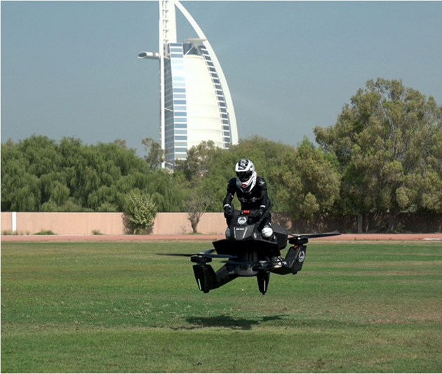 A shot of the Hoverbike in flight. (Source: Howversurf)