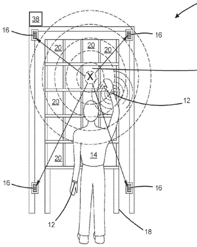 Patent describing the Amazon wristband for workers