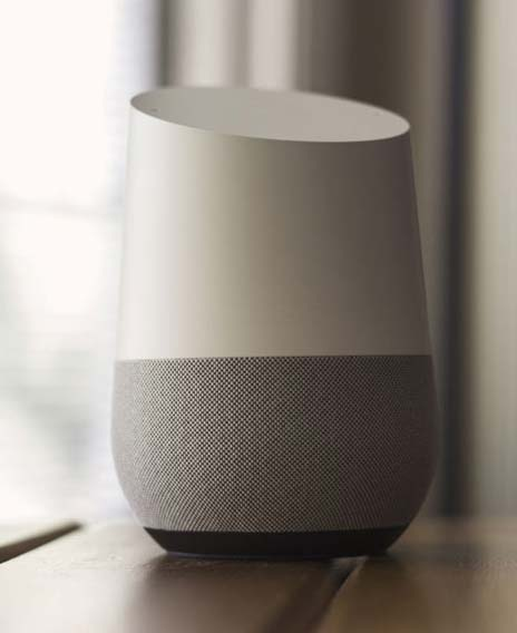 Google Home is another popular example of a VC speaker. (Source: NDB Photos - Google Home Tech)