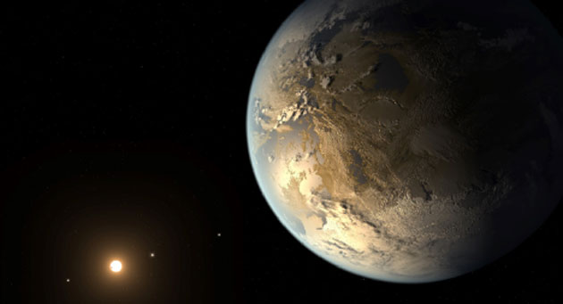An artistic impression of Kepler-186f, one of the first 'super-Earths' imaged by the Kepler deep-space telescope. (Source: NASA/JPL)
