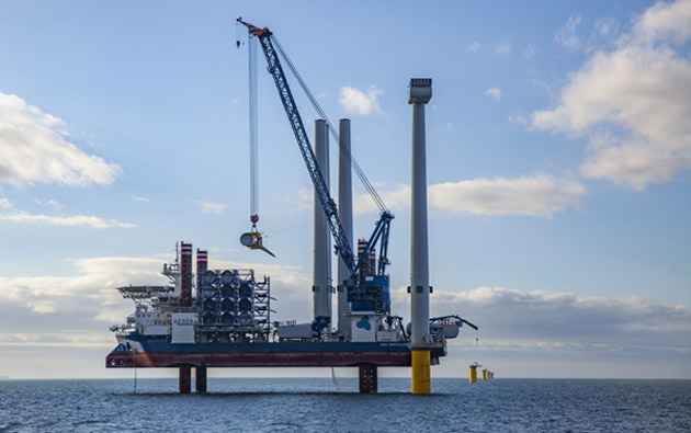 World's Largest Offshore Wind Turbine Up at Burbo Bank 2. Photo: DONG Energy