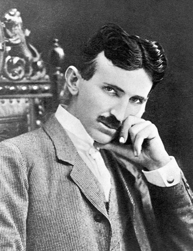 Photograph of Nikola Tesla