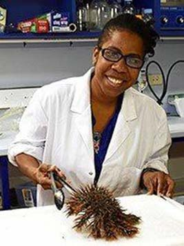 Researcher Pamela Kamya, who is a PhD student from Papua New Guinea.