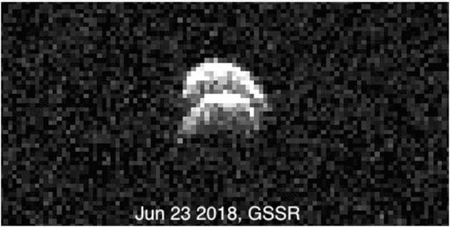 Rare image showing two lobes by GSSR on June 23, 2018. (Source: NASA Science)