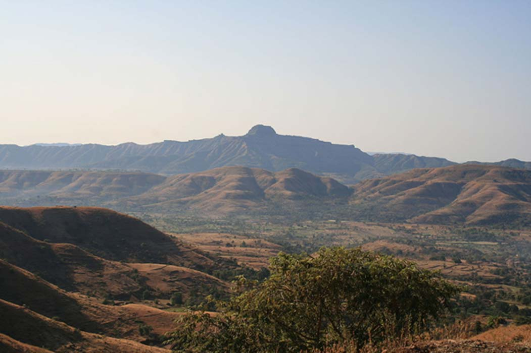 The Deccan Traps is a region of India that still clearly bears the marks of ancient lava flows. (Source: Wikimedia Commons)