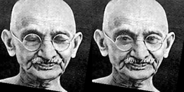 The technique was tested on an image of Mahatma Gandhi, and it was apparent that the presence of his spectacles did not significantly interfere with the algorithm. (Source: Facebook)