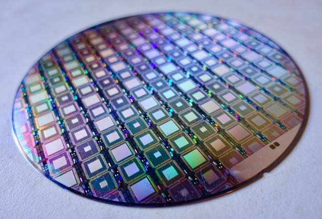 This quantum-capable wafer may be only so useful without the ability to network with other quantum processors. (Source: Steve Jurvetson @ flickr)