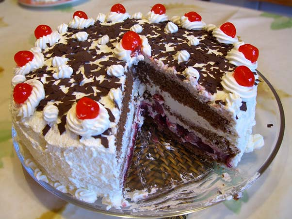 Foods such as black forest gateau is considered as carbs with high-GI (Source: Wikipedia)