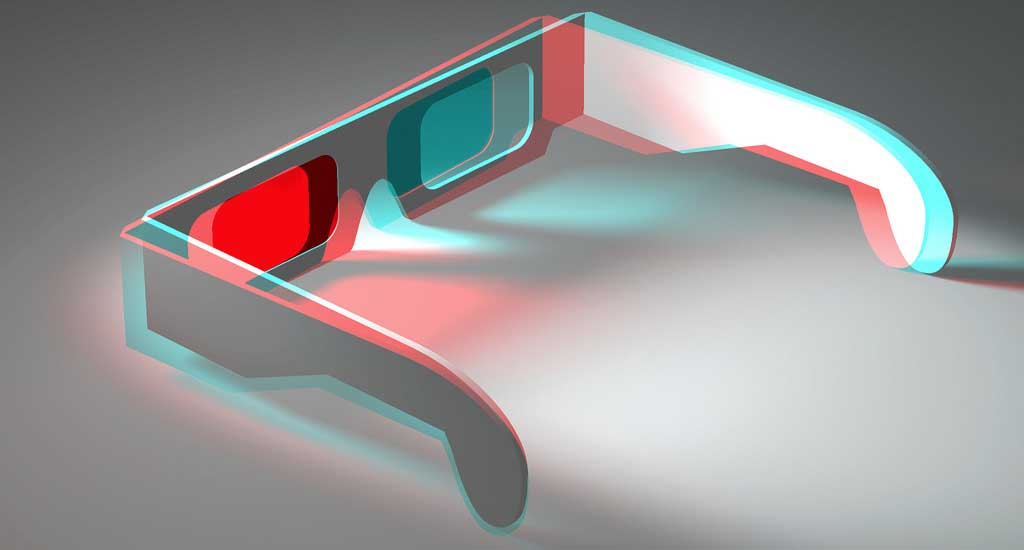 Illusion of Depth and Space (15/22) - Colour 3D Anaglyph of 3D Anaglyph (Red and