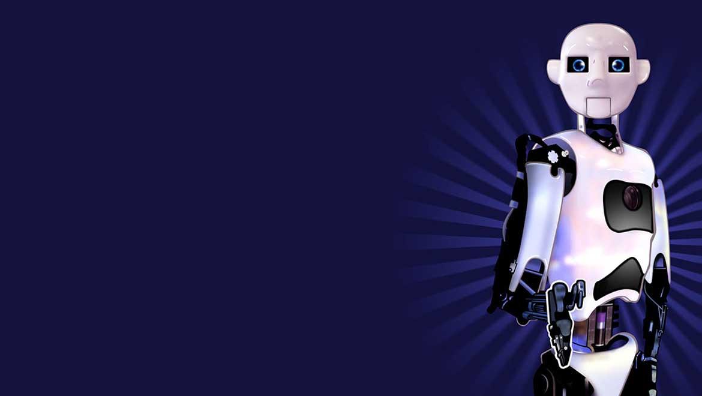 Masked Man Design's illustration of Artie, robot-in-residence at Oxford Brookes University's Cognitive Robotics Group.