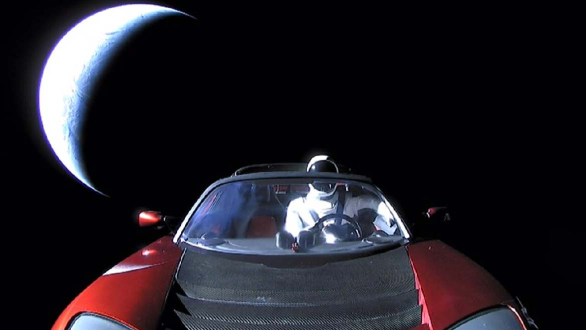 Drifting 'Starman': Tesla's Space Roadster Reported To Have Passed Mars