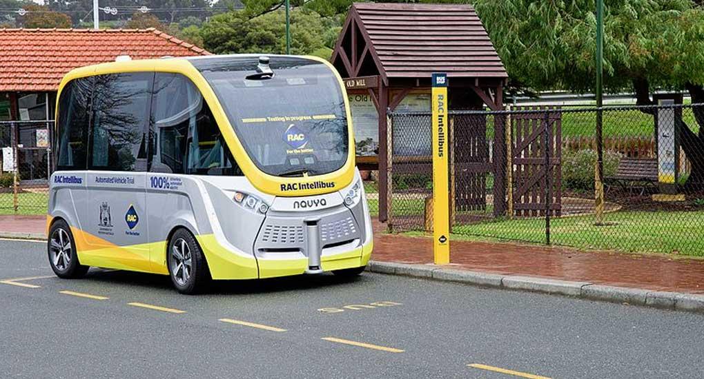 Navya Autonomous bus trail in South Perth, Western Australia