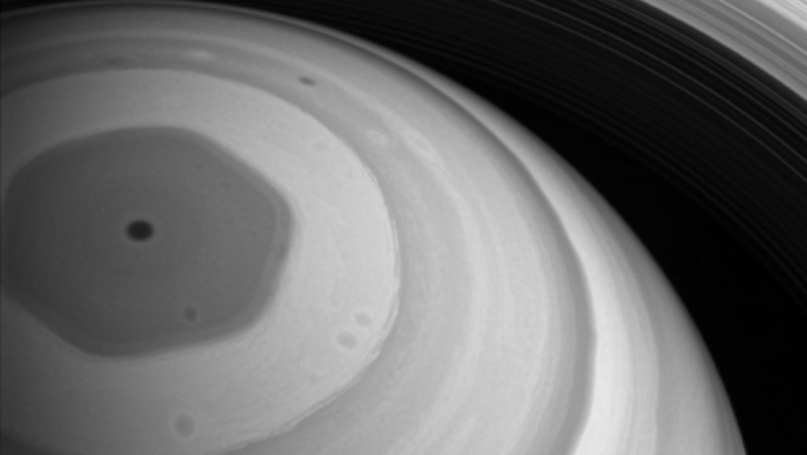 Saturn's Hexagon: Cassini's Perspective On The Planet's Pointy Polar Vortex