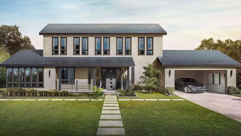 Testa smooth solar roof.