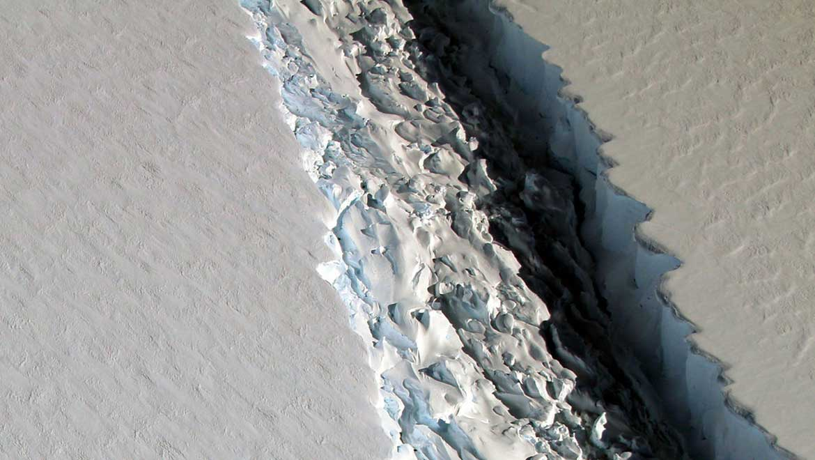 Larsen C Ice Shelf Crack Details.