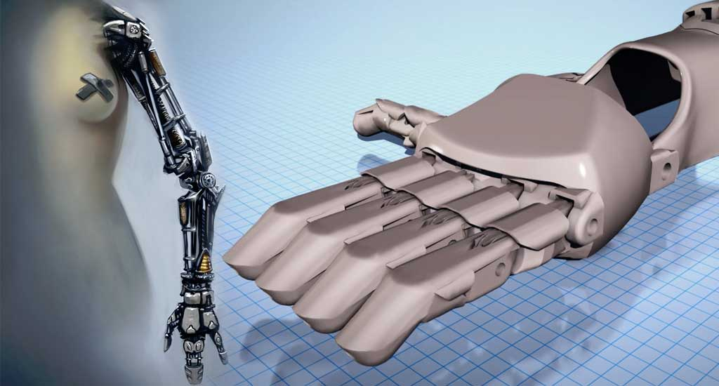 A conceptual science fiction prosthetic arm as seen in the Star Wars films and Modifying an Existing Prosthetic Design with Tinkercad on Vimeo