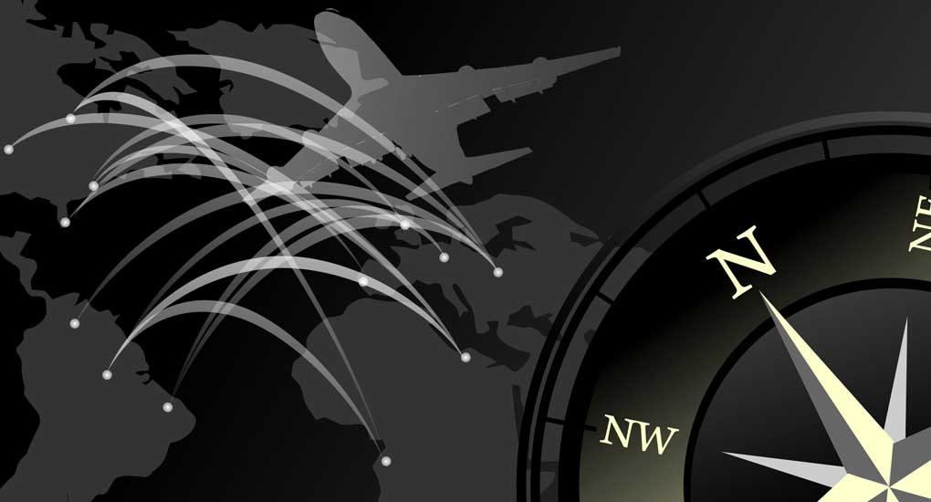 World Rose Compass Stock Image