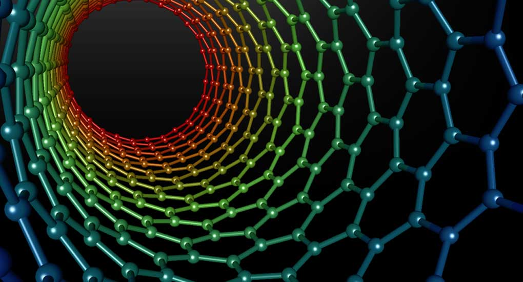 The view from inside a carbon nanotube