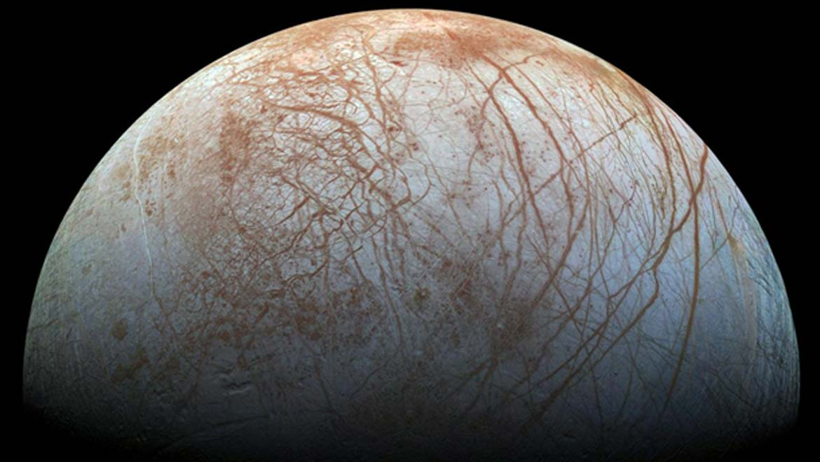 A University of Texas at San Antonio (UTSA) and Southwest Research Institute (SwRI) team modeled a natural water-cracking process called radiolysis. They applied the model to the icy bodies around our solar system to show how radiation emitted from rocky cores could break up water molecules and support hydrogen-eating microbes. Image Courtesy of NASA/JPL-Caltech/SETI Institute