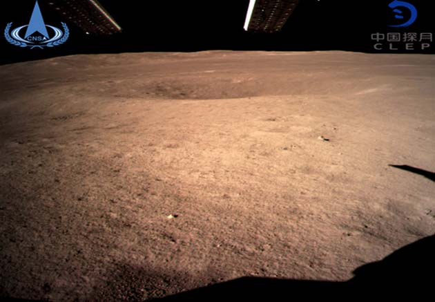 The first image of the moon's surface reportedly sent back from Chang'e 4 to Earth. (Source: CNS/CLEP)