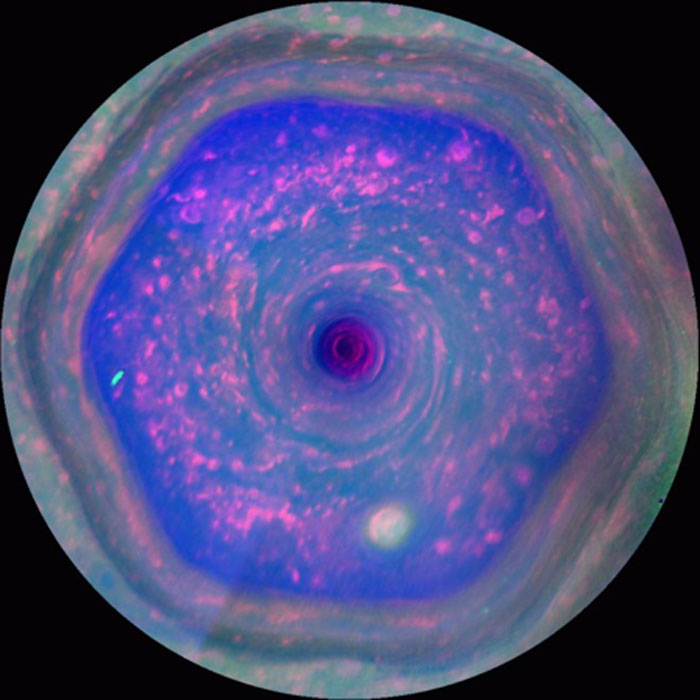 An image of the SPNV generated from data captured by Cassini. (Source: NASA/JPL-Caltech/SSI/Hampton University)