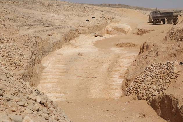 """Evidence of the 4,500-year-old """"system"""" that was probably used to construct the pyramids of Egypt have been unearthed. (Source: Yannis Gourdon/LFAO)"""