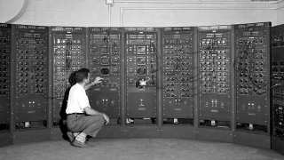 Analog computing machine at the Lewis Flight Propulsion Laboratory circa 1949.