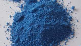 Cobalt is a characteristic blue in its refined form.