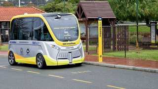 Navya Autonomous bus trail in South Perth, Western Australia