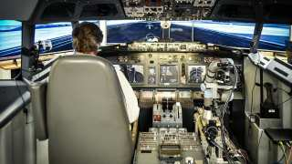 Cockpit with the robot arm.