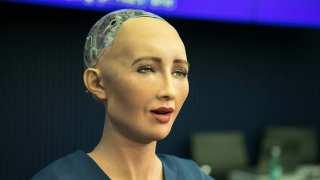 Sophia, Hanson Robotics Ltd. speaking at the AI for GOOD Global Summit, ITU, Geneva, Switzerland, 7 - 9 June, 2017.