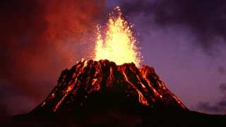 Volcano eruption on June 1983