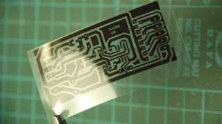 Here is a LED dimmer circuit printed on a OH-paper