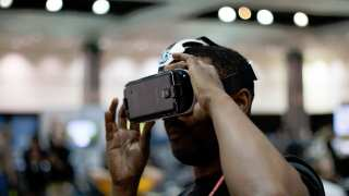 VR headset at DrupalCon LA