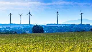 Rhine-main Windräder Field Sky Wind Energy