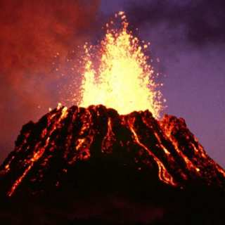 Volcano eruption on June 1983