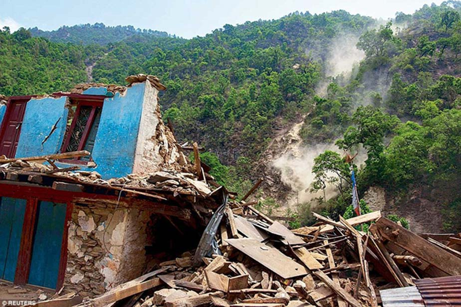 Another example is the twin earthquakes of Nepal in 2015, which triggered landslides, and even flooding, that affected millions of people. (Image Source: Reuters)